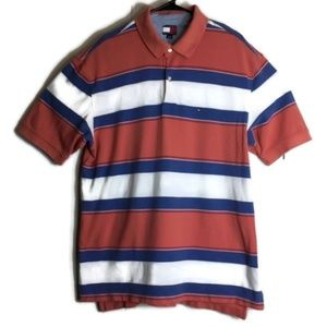 Vintage Tommy Hilfiger Striped Polo Shirt 90s